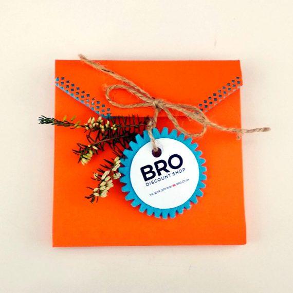 Подарунковий конверт помаранчевий. Оформлення подарунку в Житомирі