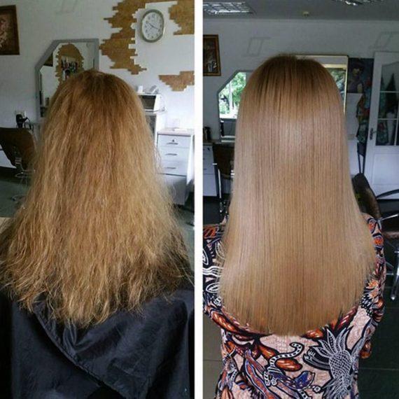 Керотинове випрямлення волосся у Житомирі. Салон краси